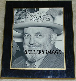 ORIGINAL SIGNED PORTRAIT OF ANSEL ADAMS
