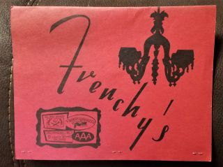 FRENCH'S (RESTAURANT MENU). Frenchy's of Milwaukee